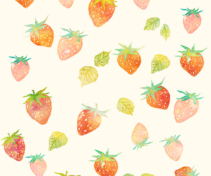 background, colors, and strawberry image