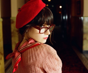 glasses, zooey deschanel, and red image