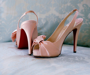 christian louboutin, pink, and fashion image