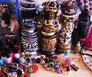 bracelet, rings, and accessories image