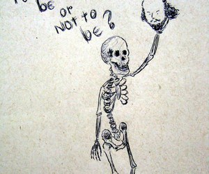 shakespeare, to be or not to be, and skeleton image