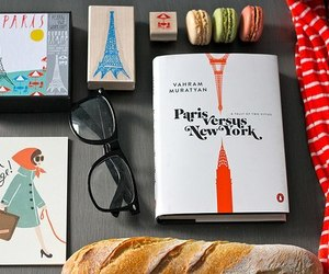 book, paris, and glasses image