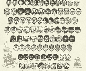 cartoon, heads, and typeface image