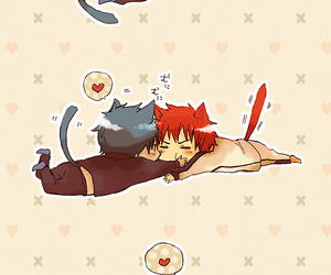 cat, kagami, and kurobas image