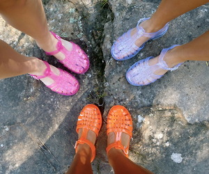 shoes, summer, and jelly image