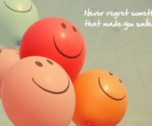 smile, quote, and balloon image