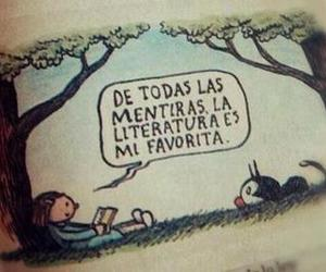 book, literatura, and lies image