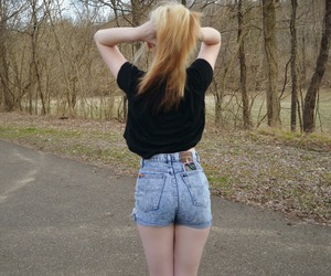 ass, blonde, and hair image
