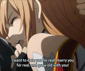 love, anime, and kirito image