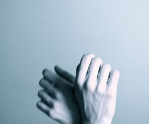 hands, pale, and grunge image
