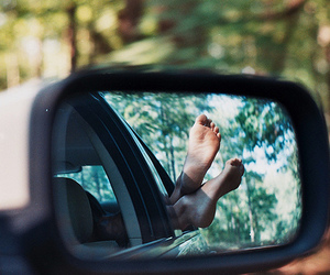 feet, car, and photography image