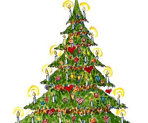 christmas tree, art, and christmas image