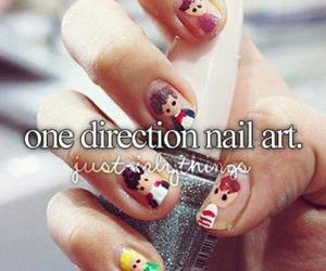 one direction, nails, and nail art image