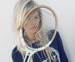 girl, blonde, and tennis image
