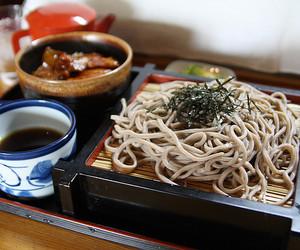 food, japan, and soba image