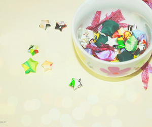 colorful, paper stars, and pretty things image
