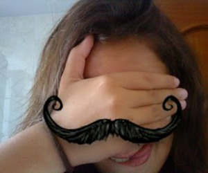 ana, mustache, and funny image