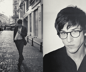 boy, gaspard ulliel, and black and white image