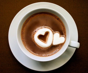heart, coffee, and chocolate image