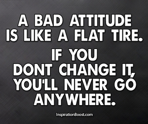 attitude and quote image