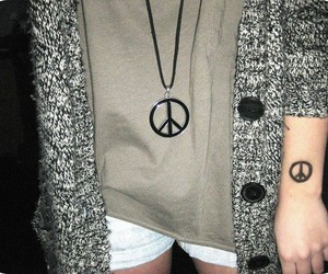 fashion, outfit, and peace image