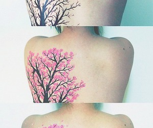 back, tattoo, and tree image