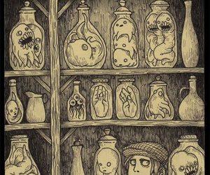 monster, art, and creepy image
