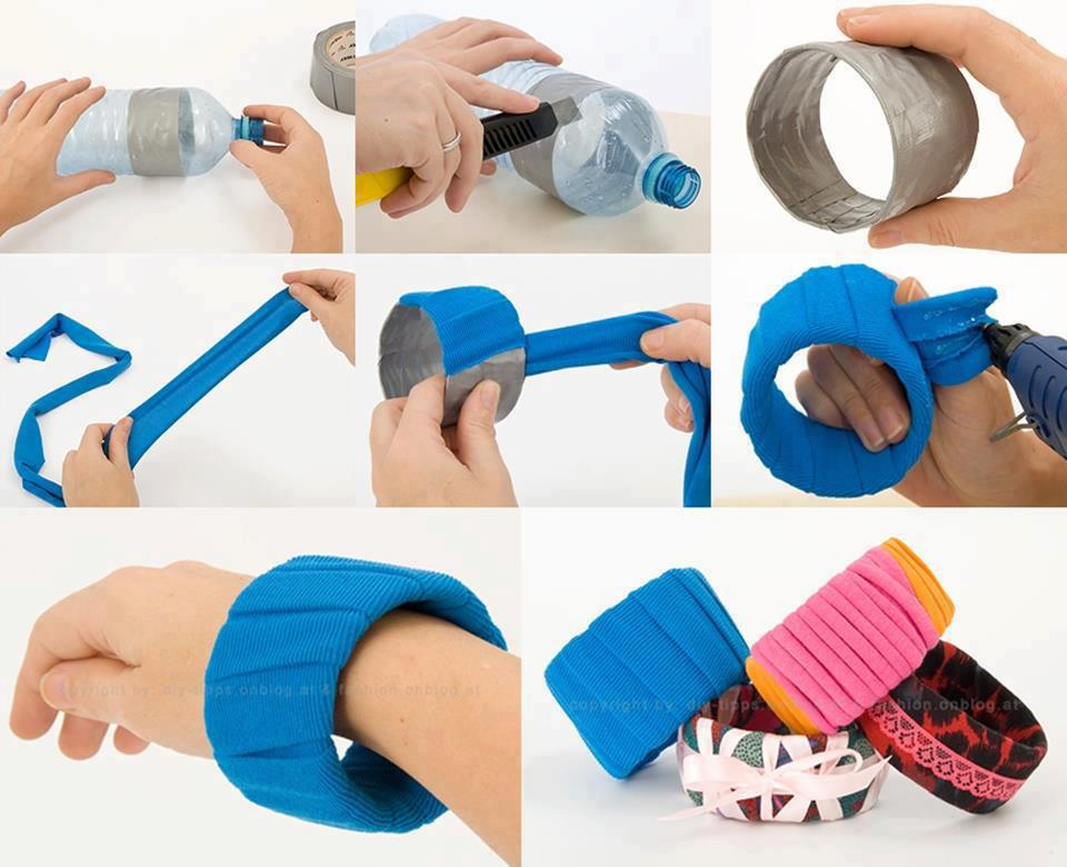 DIY Simple Plastic Bottle Bracelet Projects