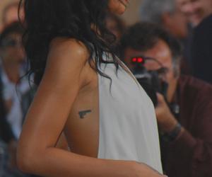 rihanna, tattoo, and gun image