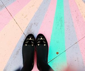 shoes, ballerina, and cat image