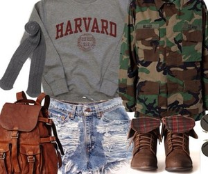 backpack, boots, and brown image