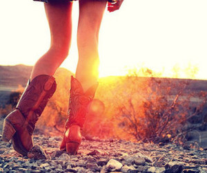 boots, sun, and country image