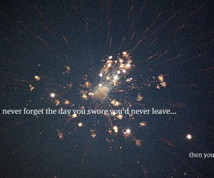 leave, fireworks, and text image