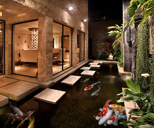 luxury, house, and fish image
