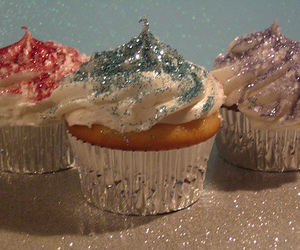 cupcake, glitter, and sweet image