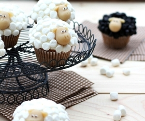 cupcake, sheep, and white image