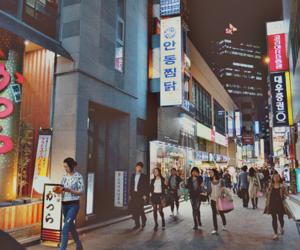 light, city, and korea image