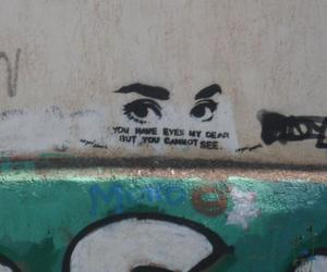 quote, eyes, and graffiti image