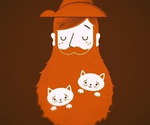 bearded, cats, and funny image