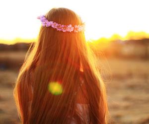 girl, hair, and long image