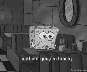 alone, black and white, and cry image