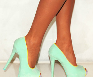 shoes, mint, and heels image