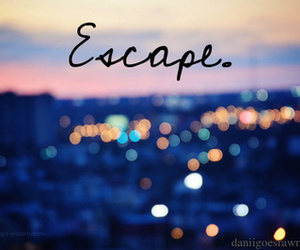escape, light, and quotes image