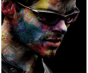 man, sunglasses, and paint image