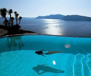 pool, summer, and sea image