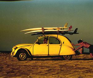 surf, car, and beach image