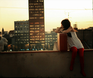 girl, city, and alone image