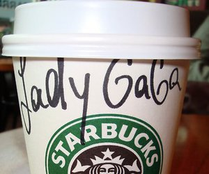 Lady gaga, starbucks, and gaga image