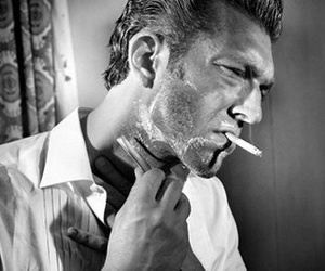 black and white and Vincent Cassel image