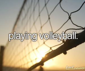 volleyball, sport, and summer image